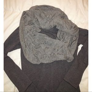 Old Navy | black and white infinity scarf